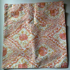 Tahari Home Place Table Mats Set 3 Orange Shells